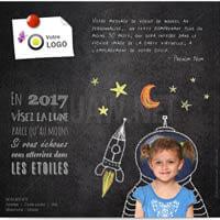 Ecard Visez la lune