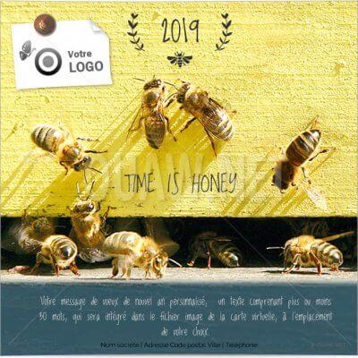 Ecard de voeux abeilles
