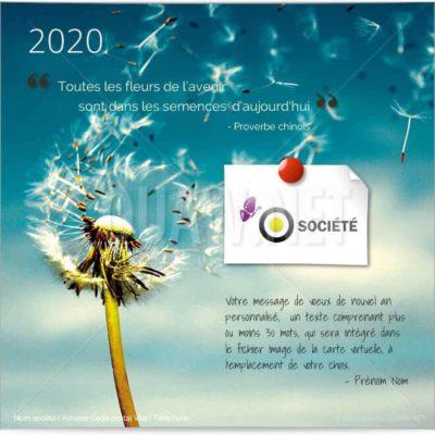 Carte de voeux virtuelle entreprise Fleurs de l'avenir ECVN 03