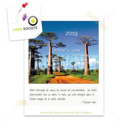 ECVN 13 - carte de voeux écologique : Arbre
