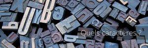 Voeux : Police de caractères (Font)
