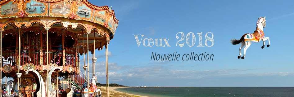 Nouvelle collection de cartes virtuelles professionnelles de vœux 2018