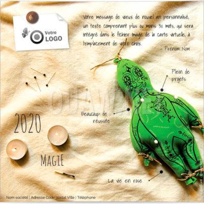 ECVN07 - Ecard de voeux professionnelle - Magie
