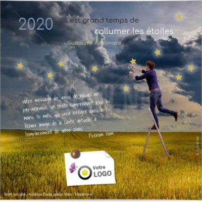 ECVN 10 - Ecard professionnelle 2020 - Rallumer les étoiles