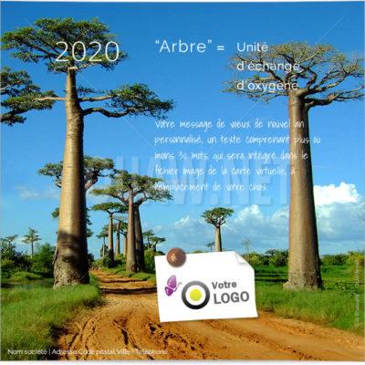 ECVN 13 - Carte virtuelle entreprise écologique - Arbre = oxygène