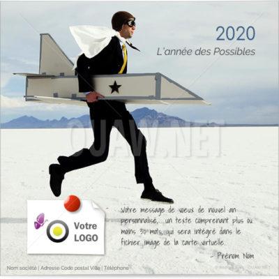 ECVN28 - Ecard voeux pour entreprise L'année des Possibles