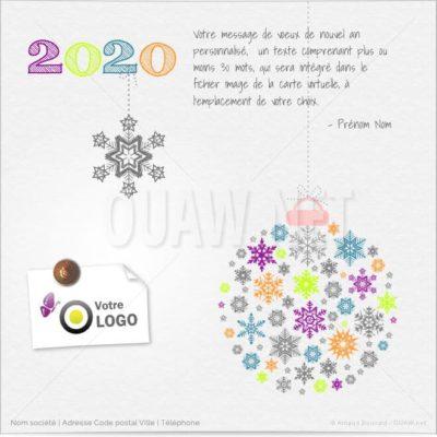 ECVN41 - Ecard entreprise Boule de Noël