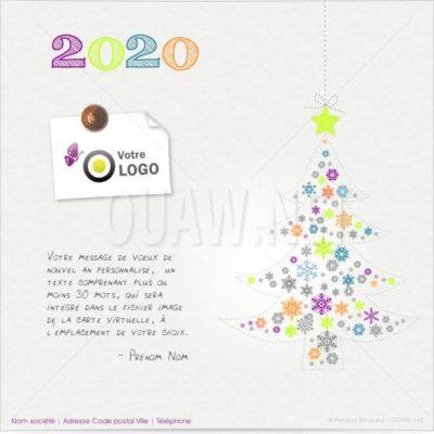 ECVN42 - Ecard professionnelle Sapin de Noël