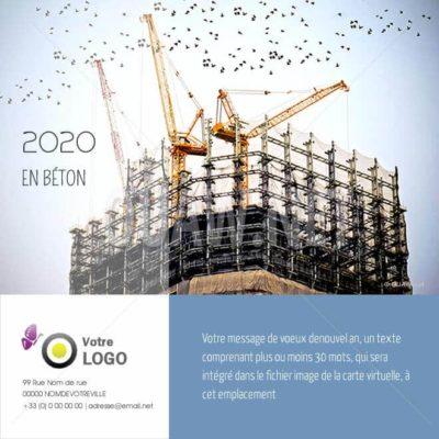 ECVN52 - Carte de voeux virtuelle BTP Construction