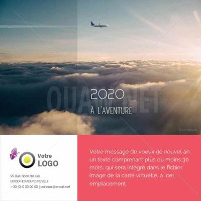 ECVN60 - Ecard voeux Voyage tourisme
