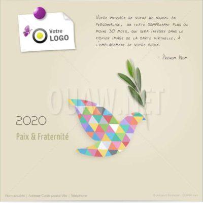 ECVN64 - Carte de voeux Paix Colombe
