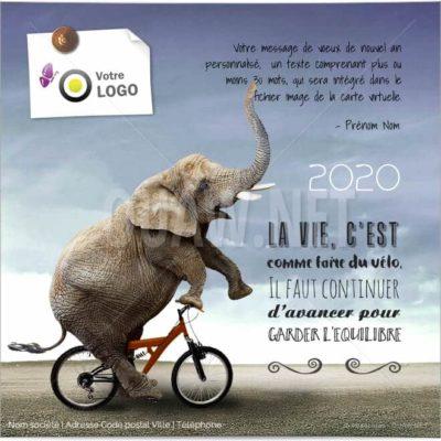 ECVN75 - Ecard entreprise Vélo Equilibre