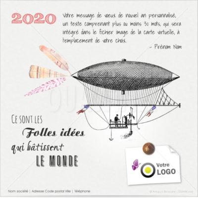 ECVN78 - Carte de voeux entreprise Folles Idées