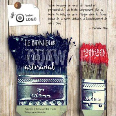 ECVN 70 - Carte de voeux peintre BTP