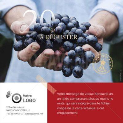 ECVN53 - Ecard voeux vin, à déguster
