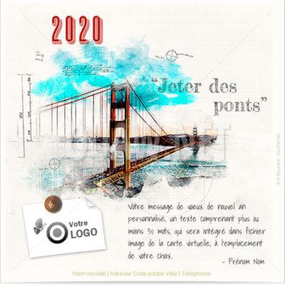 Carte virtuelle professionnelle Voeux Architecte