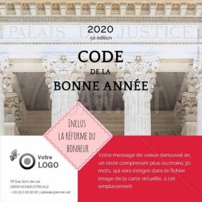 Ecard carte de voeux avocat, Code