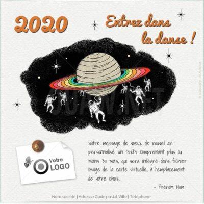 ECVN104 - Ecard voeux entreprise Entrez dans la danse