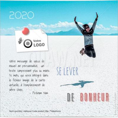ECVN98 - Ecard voeux entreprise Se lever de bonheur