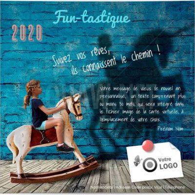 Ecard entreprise FUNtastique voeux - ECVN107