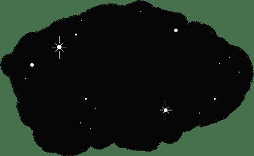 Planète Voeux - Ciel étoilé