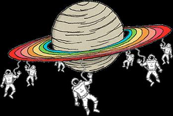 Planète voeux, Saturne et cosmonautes