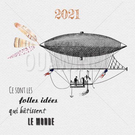 ECVN 78 - voeux carte à imprimer - Folles idées