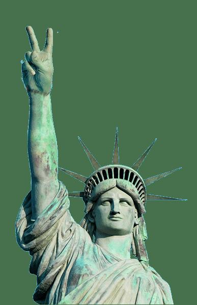 Statue Liberté - Voeux comme victoire